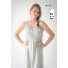 ART 5479 - Camison maternal de musculosa con puntilla y botones