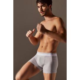 Boxer de algodon y lycra pierna corta