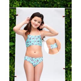 Bikini top cuello halter y espalda con tiras ESPECIAL