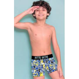 Boxer juvenil de algodón y lycra estampado